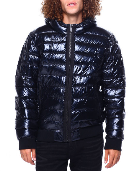 DKNY - Pearlized Hooded Puffer Bomber