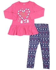 Girls - 2 Pc  Holiday Top & Legging Set (4-6X)-2418978