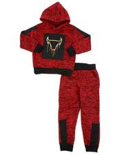 Sets - 2Pc Fleece Hoodie Foil Neoprene Jogger Set (8-20)-2418909