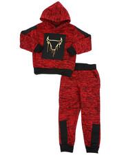 Sets - 2Pc Fleece Hoodie Foil Neoprene Jogger Set (4-7)-2418904