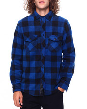 Mens-Fall - BUFFALO PLAID FRANK POLAR FLEECE SHIRT-2419342