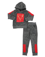 Sets - 2Pc Fleece Hoodie Foil Neoprene Jogger Set (4-7)-2418891