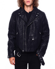 Leather Jackets - PU Moto Jacket-2419605