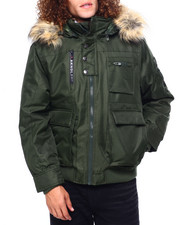 Heavy Coats - BOMBER JACKET W FAUX FUR HOOD-2419534