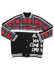 Light Jackets - Mixed Media Varsity Jacket (8-20)-2418589