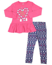 Girls - 2 Pc  Holiday Top & Legging Set (7-16)-2418973