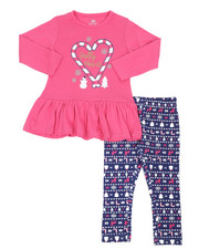 Girls - 2 Pc  Holiday Top & Legging Set (2T-4T)-2418959