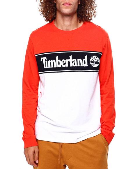 Timberland - L/S Cut & Sew Linear Logo T
