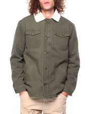 Mens-Fall - Sherpa Twill Trucker Jacket-2419421