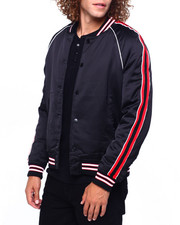 Jordan Craig - Satin Varsity Jacket w Tape Detail-2419163