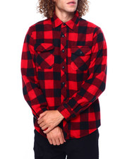 Mens-Fall - BUFFALO PLAID FRANK POLAR FLEECE SHIRT-2419365