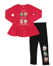 Girls - 2 Pc Holiday Top & Legging Set (4-6X-2418939