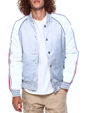 Jordan Craig - Satin Varsity Jacket w Tape Detail-2419144