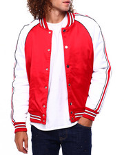 Jordan Craig - Satin Varsity Jacket w Tape Detail-2419175