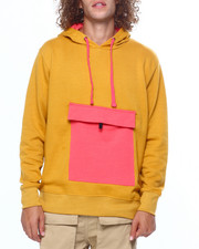 Mens-Fall - HOODIE W NYLON KANGAROO POCKET-2419305