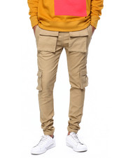 Mens-Fall - Combed Twill Utility Pocket Drawstring Jogger-2419359