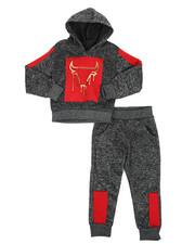 Sizes 2T-4T - Toddler - 2Pc Fleece Hoodie Foil Neoprene Jogger Set (2T-4T)-2418887