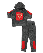 Sets - 2Pc Fleece Hoodie Foil Neoprene Jogger Set (8-20)-2418896