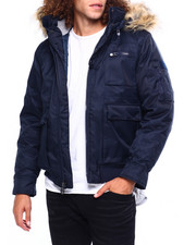 Mens-Fall - BOMBER JACKET W FAUX FUR HOOD-2419539