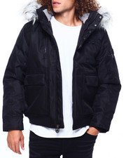 Heavy Coats - BOMBER JACKET W FAUX FUR HOOD-2419501