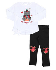 Girls - 2 Pc  Holiday Top & Legging Set (2T-4T)-2418922