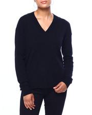 Sweaters - Miracash Wide Vnk Drop Shoulder Pullover W/Slit Side-2420010
