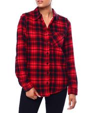 DEREK HEART - L/S Plaid Flannel W/ Sherpa Lining-2420062