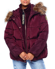Womens-Winter - BB Short Puffer W/ Velour Rib-2420308