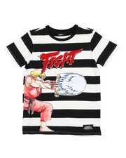 T-Shirts - Fight Striped Tee (8-18)-2420086