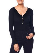 Women - Rib Snap Up Vnk Raglan Pullover-2419973