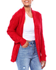 Women - L/S Brushed Cable Shaker Cardigan-2420002