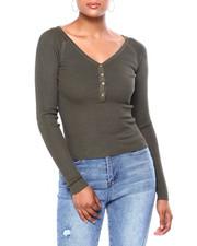 Women - Rib Snap Up Vnk Raglan Pullover-2419960