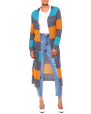 Sweaters - Stripe 2 Pocket Sweater Duster-2419923