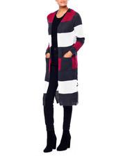 Sweaters - Stripe 2 Pocket Sweater Duster-2419956