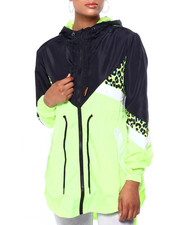 Athleisure for Women - Hooded Colorblock Full Zip Anorak Windbreaker-2420136
