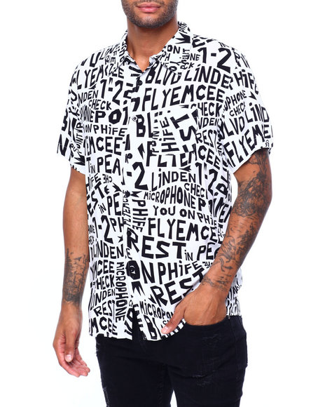 Buyers Picks - all over Verbage SS Woven Shirt