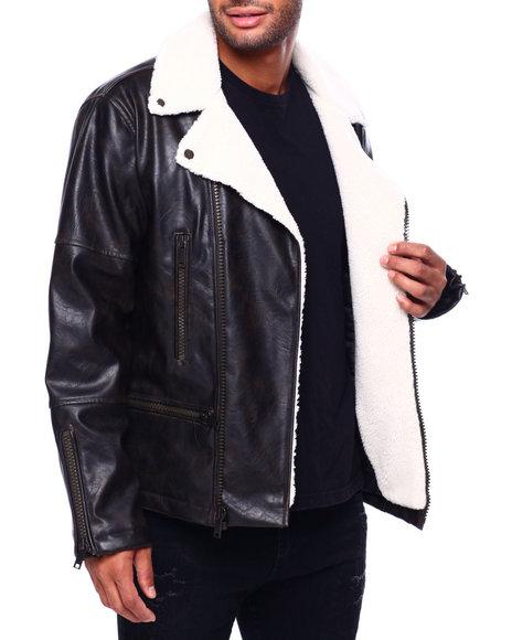 DKNY - Faux Shearling Zipup Jacket