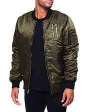 Mens-Fall - Bomber Jacket  w Zipper Detail-2420255