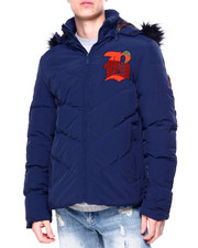 Light Jackets - ROYALTY Chenille Letters PADDED JACKET W / HOOD-2421036