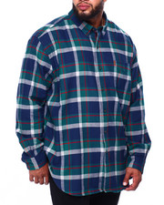 Chaps - Flannel Long Sleeve Sport Shirt (B&T)-2420431