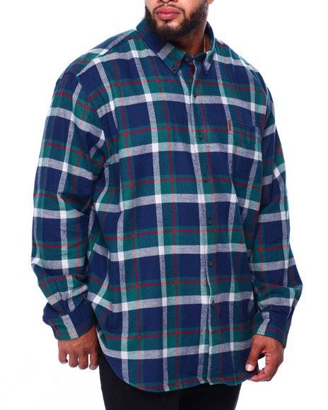 Chaps - Flannel Long Sleeve Sport Shirt (B&T)