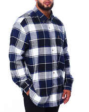 Chaps - Flannel Long Sleeve Sport Shirt (B&T)-2420426