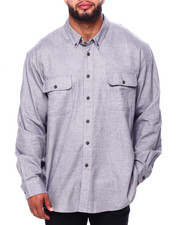 Men - Bushed Twill H-Fashion L/S Sport Shirt (B&T)-2419721