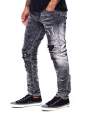 Jeans & Pants - Skinny Fit distressed seamed blown Out Jean-2420997