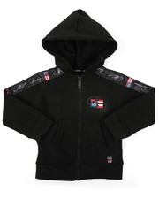 Sizes 2T-4T - Toddler - Full Zip Fleece Hoodie W/ Poly Taped (2T-4T)-2421615
