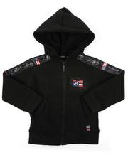 Hoodies - Full Zip Fleece Hoodie W/ Poly Taped (2T-4T)-2421615