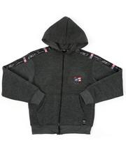 Hoodies - Full Zip Fleece Hoodie W/ Poly Taped (8-20)-2421650