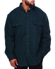 Men - Bushed Twill H-Fashion L/S Sport Shirt (B&T)-2419775
