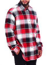 Chaps - Flannel Long Sleeve Sport Shirt (B&T)-2420449