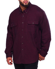 Men - Bushed Twill H-Fashion L/S Sport Shirt (B&T)-2419769